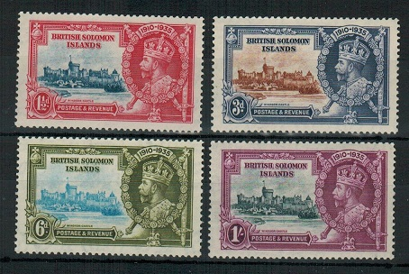 SOLOMON ISLANDS - 1935 Silver Jubilee set U/M.  SG 53-56.