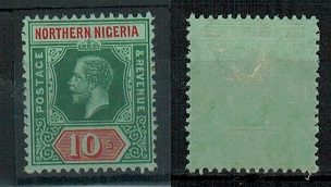 NORTHERN NIGERIA - 1912 10/- fine mint.  SG 51.