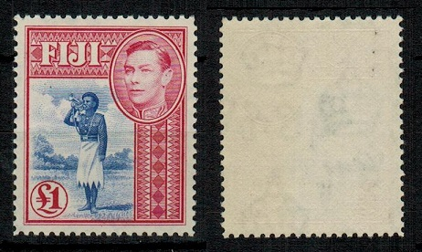 FIJI - 1950 £1 ultramarine and carmine unmounted mint.  SG 266b.