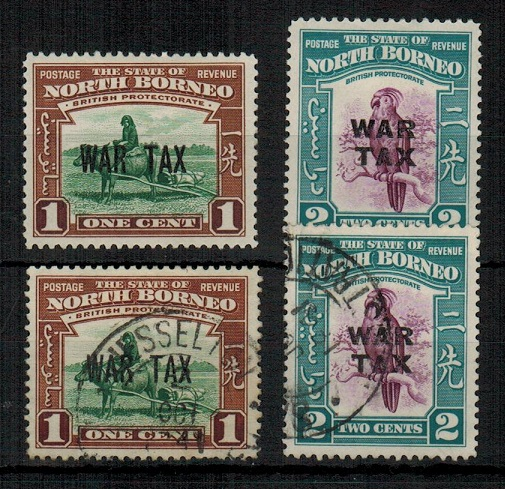 NORTH BORNEO - 1941 1c + 2c