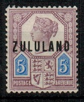 ZULULAND - 1893 5d dull purple and blue fine mint.  SG 7.