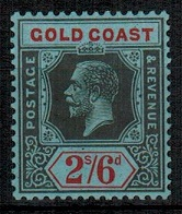 GOLD COAST - 1924 2/6d black and red unmounted mint.  SG 97.