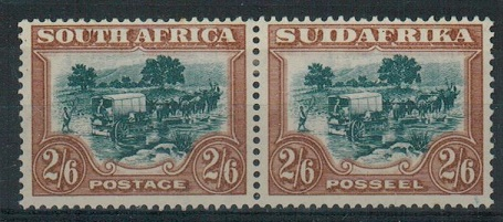 SOUTH AFRICA - 1932 2/6d green and brown mint pair.  SG 49