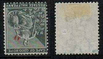 GRIQUALAND WEST - 1878 1/2d grey-black mint with INVERTED G. SG 15a.