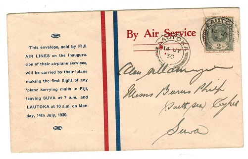 FIJI - 1930 first flight cover to Suva.