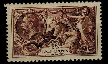 GREAT BRITAIN - 1934 2/6d chocolate brown