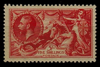 GREAT BRITAIN - 1934 5/- bright rose red