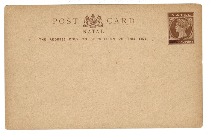 NATAL - 1894 1/2d (1d blocked out) PSC unused.  H&G 9.
