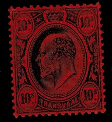 TRANSVAAL - 1902 10/- black and red mint.  SG 255.