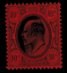 TRANSVAAL - 1907 10/- black and red mint.  SG 271.
