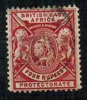 BRITISH EAST AFRICA - 1896 4r carmine lake fine used.  SG 78.
