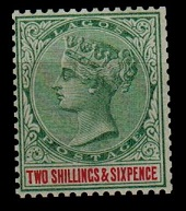 LAGOS - 1887 2/6d green and carmine mint.  SG 39.