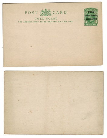 TOGO - 1917 1/2d green PSC unused.  H&G 1.