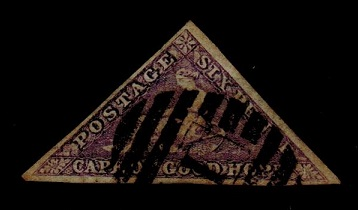 CAPE OF GOOD HOPE - 1855 6d deep rose-lilac