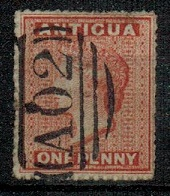 ANTIGUA - 1867 1d vermilion cancelled