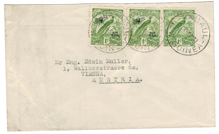 NEW GUINEA - 1931 3d rate cover to Australia used at RABAUL.