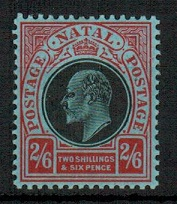 NATAL - 1908 2/6d black and red mint.  SG 168.
