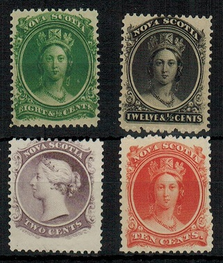 CANADA (Nova Scotia) 1860 adhesive range mint. SG 15,17,20 and 28.