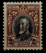 SOUTHERN RHODESIA - 1931 2/- black and brown U/M.  SG 25.