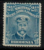 RHODESIA - 1913 2 1/2d deep blue mint.  SG 207.