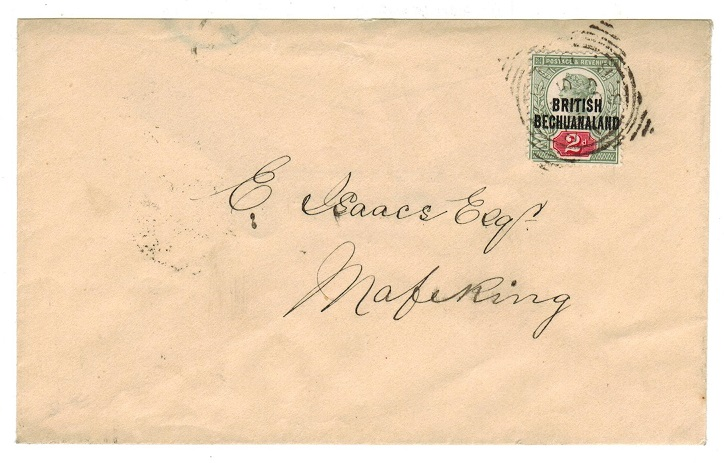 BECHUANALAND - 1895 2d rate local cover used at VYRBURG/B.B.