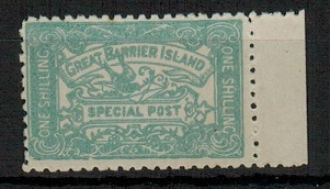NEW ZEALAND - 1899 1/- GREAT BARRIER ISLAND/SPECIAL POST
