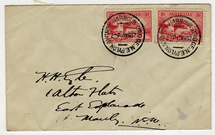 AUSTRALIA - 1932 local cover with 2d