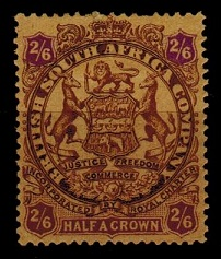 RHODESIA - 1896 2/6d brown and purple mint.  SG 48.
