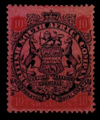 RHODESIA - 1896 10/- slate and vermilion on rose mint.  SG 50.