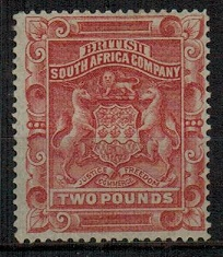RHODESIA - 1892 £2 rose-red mint.  SG 11.