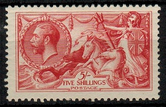 GREAT BRITAIN - 1918 5/- rose red