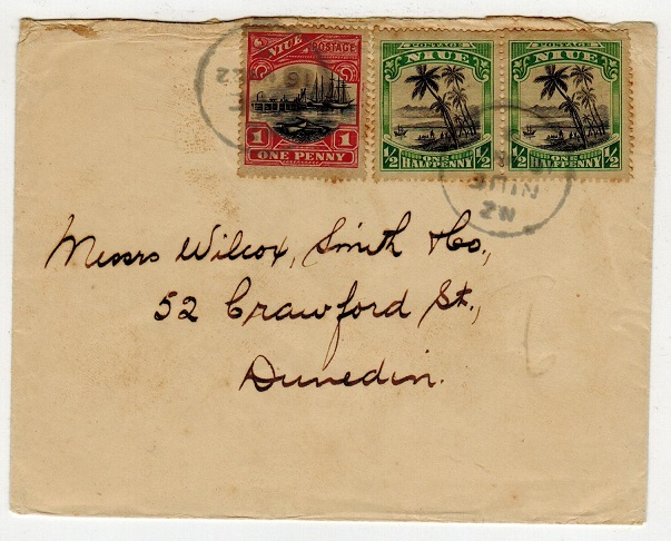 NIUE - 1922 2d rate cover to New Zealand