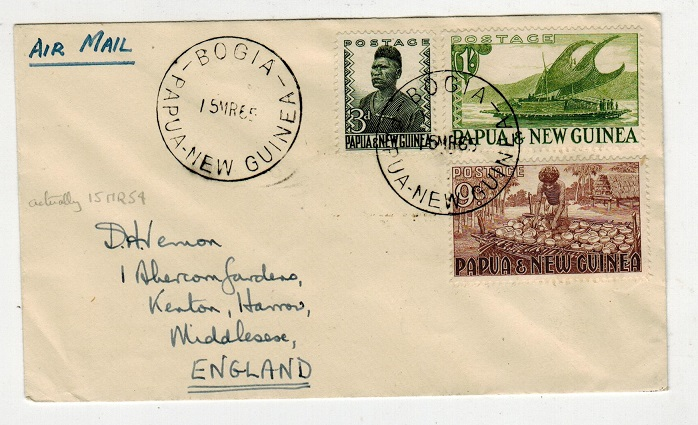 PAPUA - 1965 cover to UK used at BOGIA.