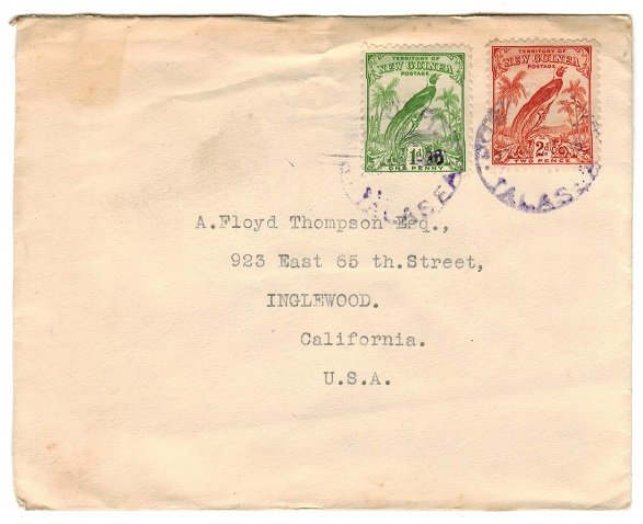 NEW GUINEA - 1936 cover to USA used at TALASEA.