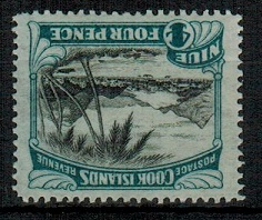 NIUE - 1932-36 4d unmounted mint with INVERTED WATERMARK. SG 66w.