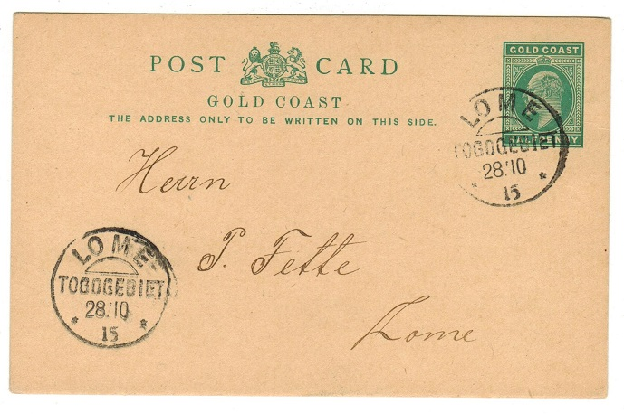 TOGO - 1903 1/2d PSC of Gold Coast used at LOME.
