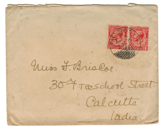 ADEN - 1915 PAQUEBOT/ADEN cover with