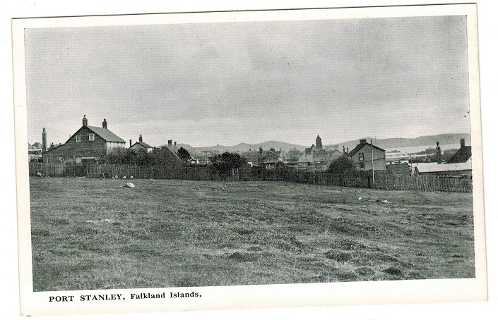 FALKLAND ISLANDS - 1930/40 (circa) unused postcard depicting Port Stanley.
