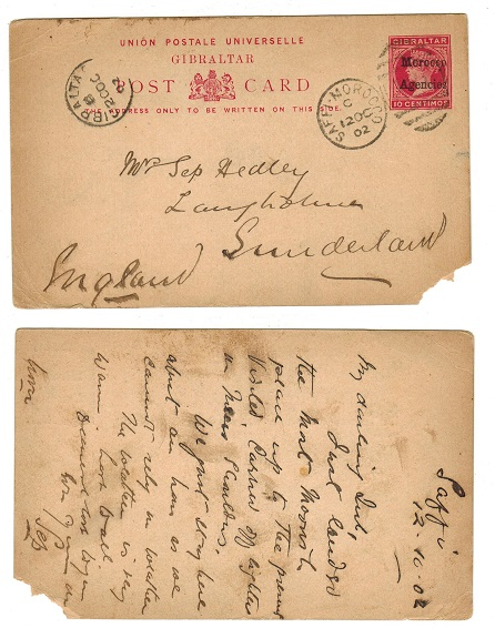MOROCCO AGENCIES - 1898 10c PSC to UK used at SAFFI.  H&G 8.