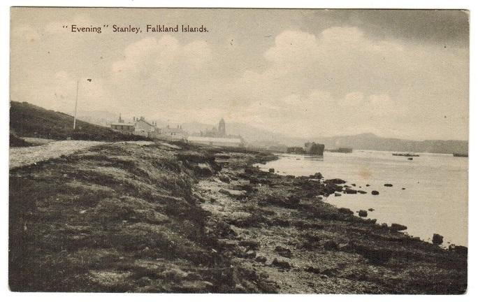 FALKLAND ISLANDS - 1920 unused postcard depicting