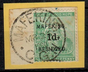 CAPE OF GOOD HOPE (Mafeking) - 1900 1d on 1/2d green MAFEKING/BESEIGED issue used.  SG 1.