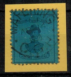 CAPE OF GOOD HOPE - 1900 3d deep blue adhesive used.  SG 20.