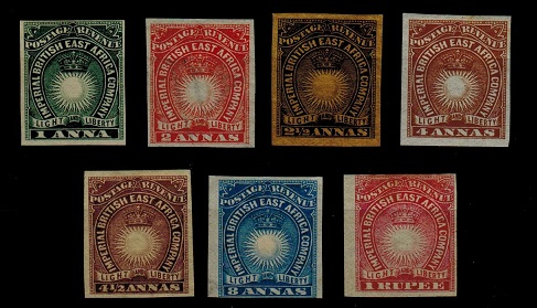 BRITISH EAST AFRICA - 1890 IMPERFORATE single range mint.