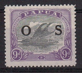 PAPUA - 1921-32 9d lilac and violet overprinted