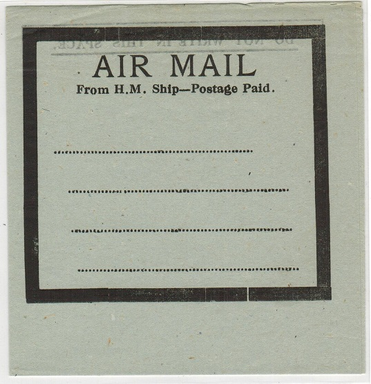 GREAT BRITAIN - 1943 AIR MAIL-FROM H.M.SHIP-POSTAGE PAID air letter.