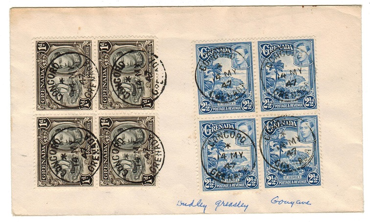 GRENADA - 1947 local cover used at CONCORD.