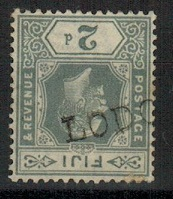 FIJI - 1922 2d grey (SG 233) cancelled by LODO(NI)