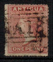 ANTIGUA - 1867 1d vermilion struck by