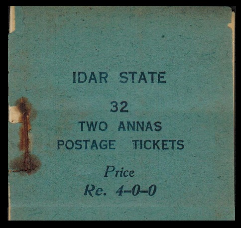 INDIA (Idar State) - 1944 Re4-0-0 dark blue complete BOOKLET.
