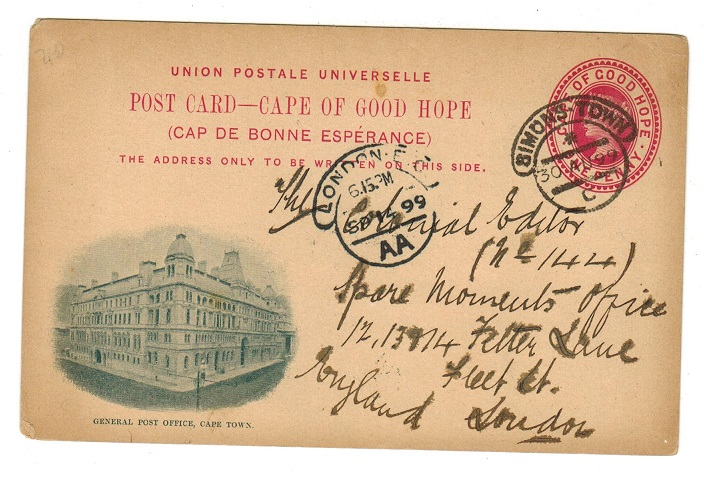 CAPE OF GOOD HOPE - 1898 1d carmine illustrated